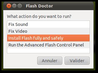 Capture Flash Doctor Flash Doctor va soigner vos petits problèmes avec Flash