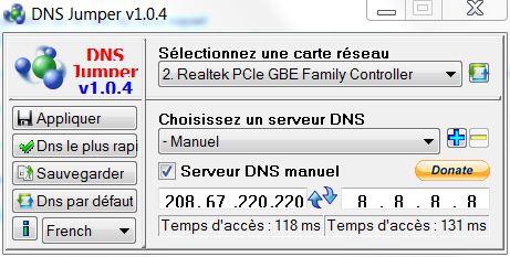 DNS Jumper v1.0 DNS Jumper   Changez rapidement de serveurs DNS