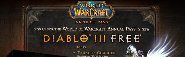 Diablo 3 sera gratuit pour les joueurs de WoW