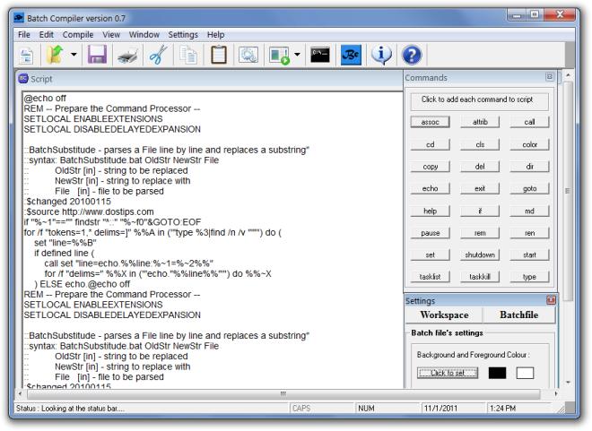 Write a batch file to run exe mac