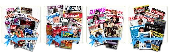 C'est bientôt Noël ! 3 tablettes Sony et 10 magazines par mois pendant 1 an à gagner.