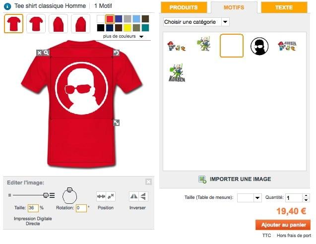 T shirts korben c est le moment de vous relooker korben - Code promo collectionnez les etoiles frais de port gratuit ...
