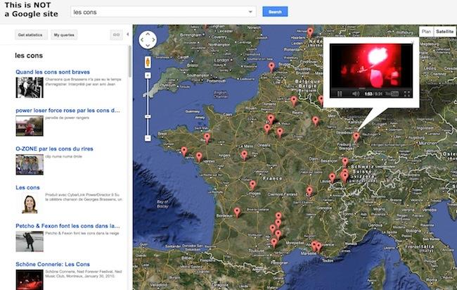 mapstube Trouver des vidéos geolocalisées