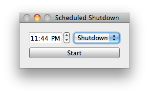 Interface for scheduled shutdown