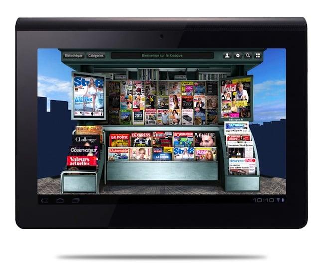 sony kiosquefaceV3 Cest bientôt Noël ! 3 tablettes Sony et 10 magazines par mois pendant 1 an à gagner.