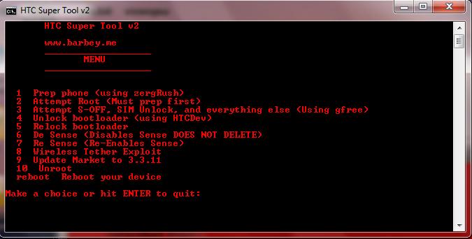 comment debloquer le mot de passe d'un htc