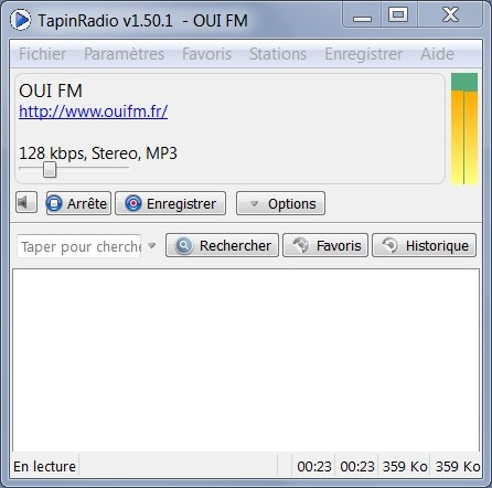 TapinRadio v1.50 Comment écouter la radio sur internet