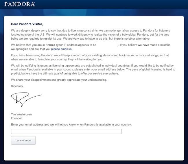 pandora1 Accèder à un site bloqué