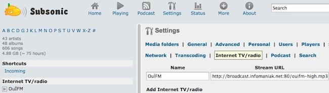 subsonic radio Comment écouter la radio sur internet