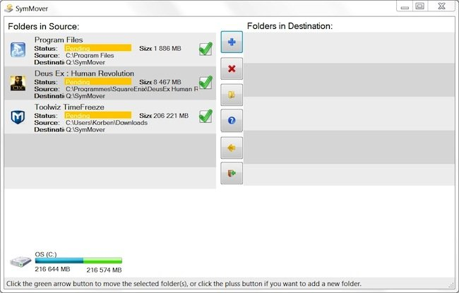 SymMover 2012 04 03 15 49 44 Déplacer des programmes et des jeux sur un autre disque dur sans devoir les réinstaller