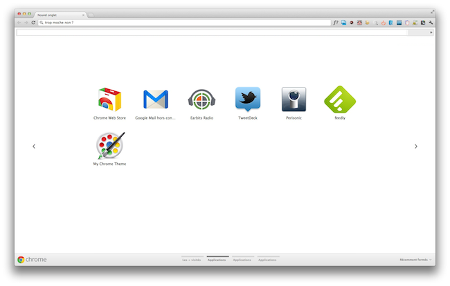 moche Awesome New Tab Page   Lextension Chrome à ne pas manquer