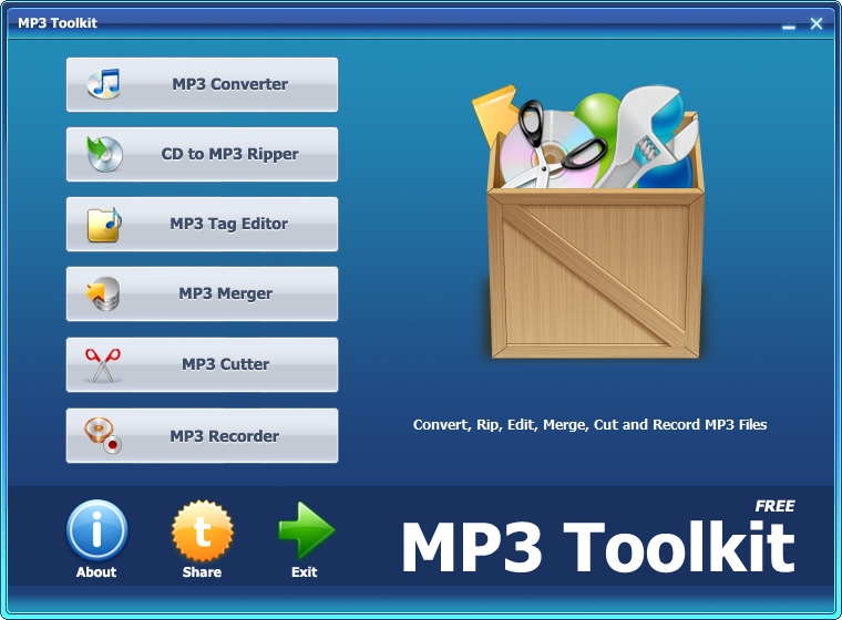 Une boîte à outils MP3 MP3Toolkit