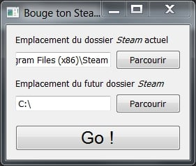 bougetonsteam Déplacer Steam facilement !