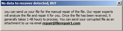 file2 Réparer un fichier endommagé