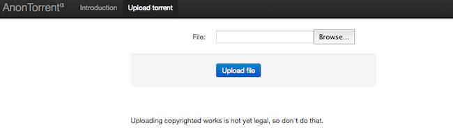 Anontorrent – Pour anonymiser la mise en ligne d'un fichier torrent