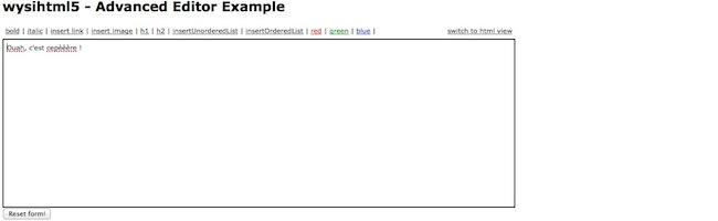 Un éditeur WYSIWYG HTML5