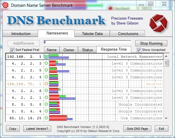 dns benchmark Trouver le DNS le plus rapide