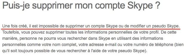 skype Comment supprimer un compte Skype ?