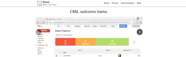 Streak – Utilisez Gmail comme CRM