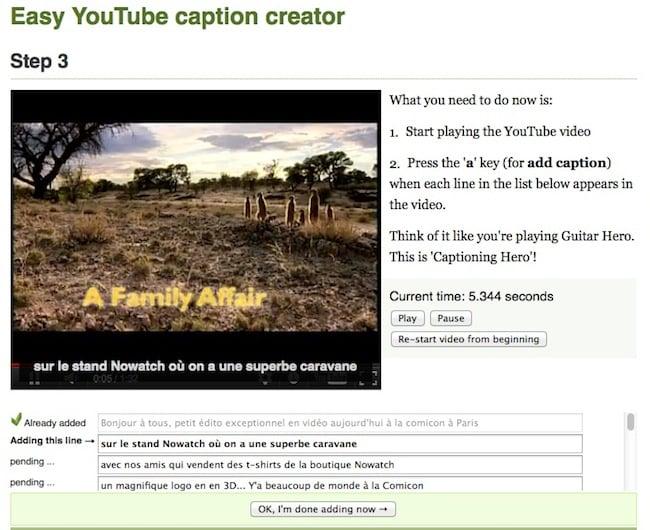 sub Créer des sous titres pour vos vidéos sans perdre 1 seconde