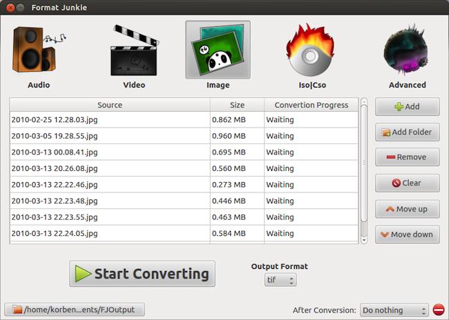FormatJunkie 040 Format Junkie   Convertir des médias sous Ubuntu