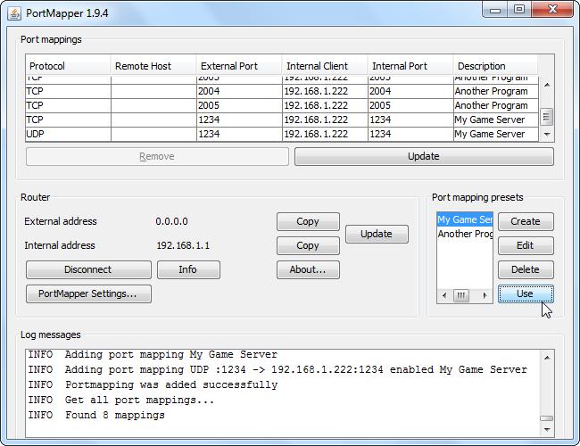 image274 Comment ouvrir et mapper facilement des ports sur votre routeur