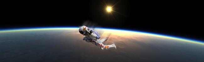 MAINTENANT !! Le saut en parachute depuis la stratosphère en live