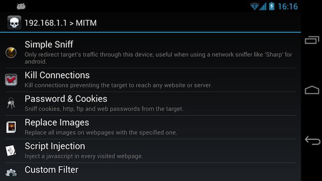 8 dSploit   Une boite à outils pour faire du pentest sous Android