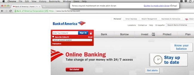 fish Le plein écran HTML5 exploité dans un phishing
