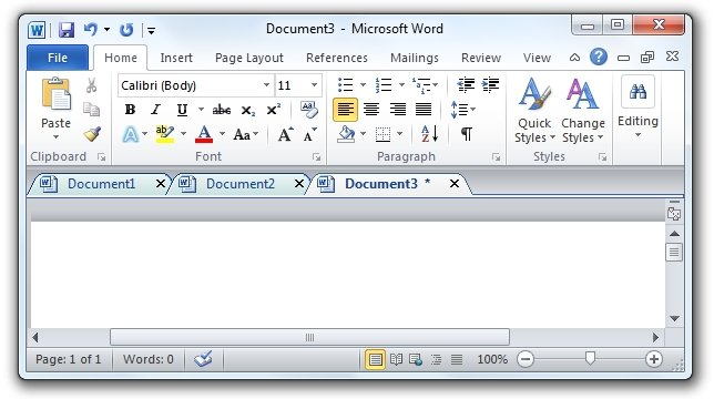 office tab in word 02 Office Tab   Des onglets sous Word, Excel et Powerpoint (Office)