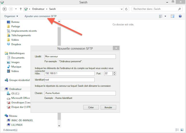 2012 11 15 16 02 20 Mapper une connexion SFTP avec un lecteur réseau Windows