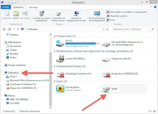 Ordinateur 2012 11 15 16 01 40 Mapper une connexion SFTP avec un lecteur réseau Windows