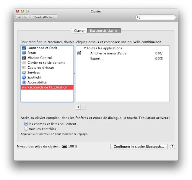 cap2 Activer les touches F1, F2, F3...etc par défaut sous Mac OSX