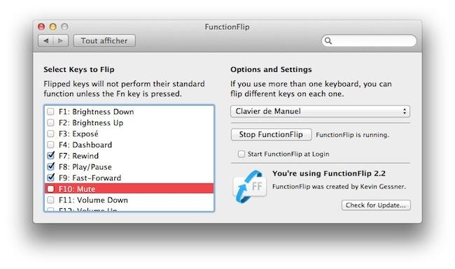 cap3 Activer les touches F1, F2, F3...etc par défaut sous Mac OSX