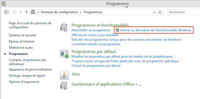 prog1 Comment installer Telnet sous Windows 8