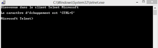 Comment installer Telnet sous Windows 8