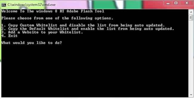 main Un outil pour gérer facilement la liste des sites autorisés à lancer du flash sous Windows RT