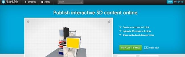 Sketchfab – Mettez du contenu 3D dans vos pages web