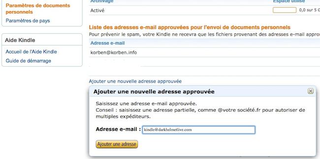 tinderzer Comment envoyer une page web sur votre Kindle pour la lire plus tard en étant déconnecté