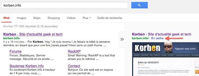 cache google Astuce pour accèder au cache Google en 1 seconde chrono