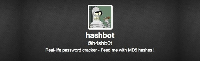 Hashbot – Un cracker de MD5 sur Twitter