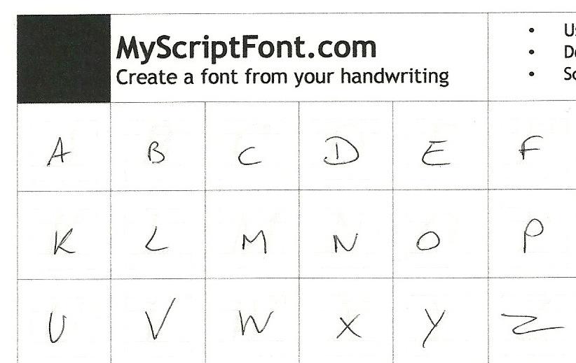 Créez une police à partir de votre écriture manuscrite.