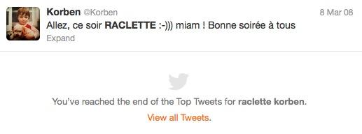 raclette On peut maintenant rechercher danciens messages sur Twitter