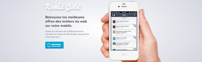 Remixjobs débarque sur iPhone