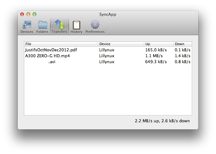 synchro Testez SyncApp de Bittorrent