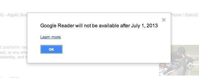 surprise Fermeture de Google Reader   Comment survivre ?