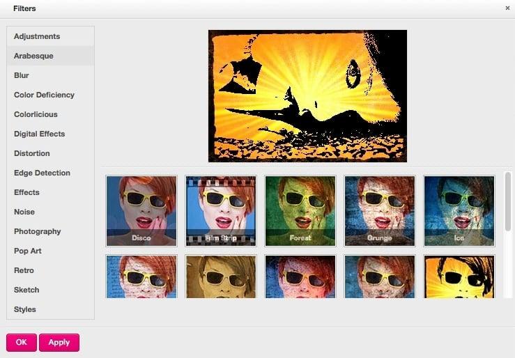 filtres Un clone de Photoshop 100% en ligne