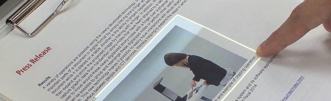 Transformer une simple feuille de papier en écran tactile