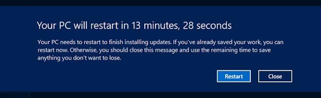 Comment empêcher un redémarrage automatique de Windows