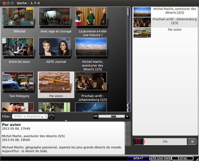 qarte Téléchager les émissions dArte sous Ubuntu